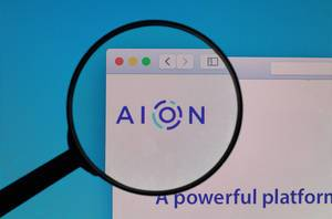 AION logo under magnifying glass