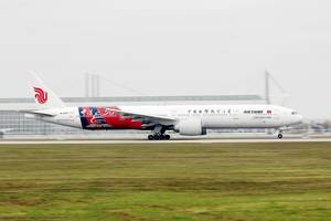 "Air China B777 ""50 years of china French Diplomatic Relations"" livery at MUC"