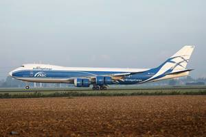 AirBridgeCargo Boeing taking off from Amsterdam Airport