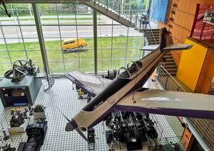 Akrobat Flugzeug im Technischen Museum in Brünn, Tschechien