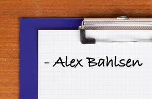 Alex Bahlsen text on clipboard