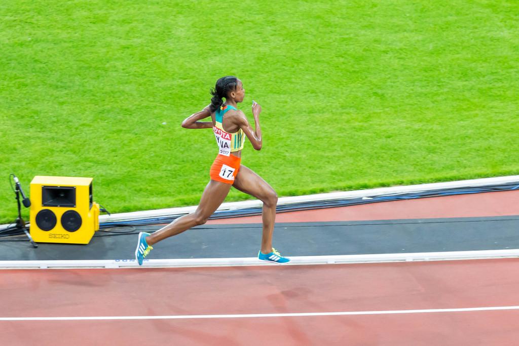 Almaz Ayana beim 10.000 Finale der Frauen