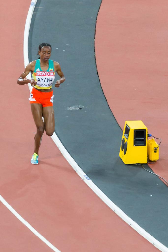 Almaz Ayana during 10k Final in London 2017