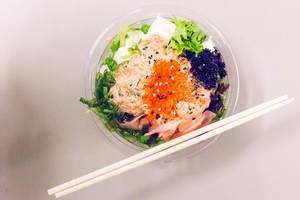 Aloha Poke salad and chopsticks