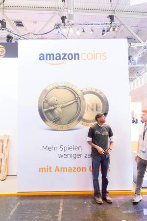 Amazon Coins Plakat - Gamescom 2017, Köln