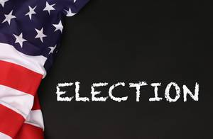 American flag with the text Election against a blackboard background.jpg