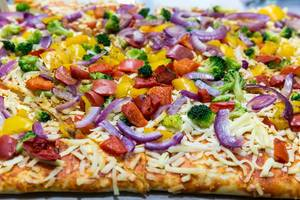 American Style Pizza close up
