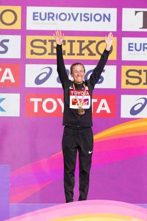 Amy Cragg Bronzemedaille (Marathon Finale Frauen) bei den IAAF Leichtathletik-Weltmeisterschaften 2017 in London
