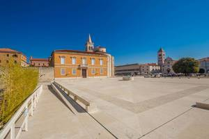 An ancient roman forum in the town of Zadar, Croatia