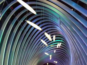 An installation at the entrance to the Nova Eventis shopping mall in Leuna, Germany