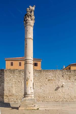 Ancient Roman column in Zadar, Croatia