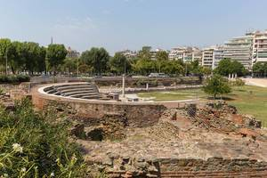 Ancient Roman Forum in Thessaloniki