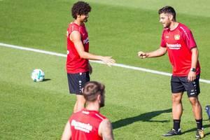 André Ramalho und Kevin Volland beim Training - Bayer 04 Leverkusen