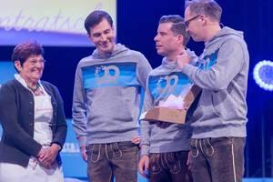 Andreas Bruckschlögl, Felix Haas und Dr. Bernd Storm van