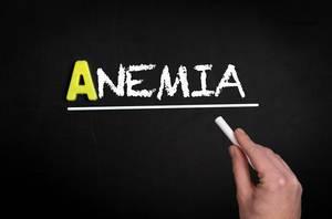Anemia text on blackboard