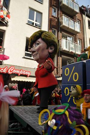 Angela Merkel im Kölner Karneval