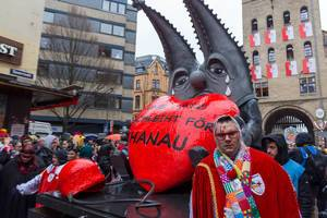 Anti-racism: German carnivals procession in Cologne remembers victims of right extremist violence in Hanau