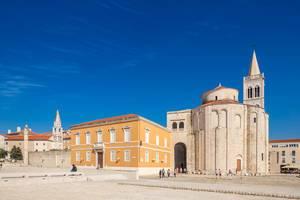 Antikes römisches Forum in der Stadt Zadar in Kroatien