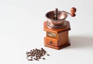 Antiquierte Kaffeemühle