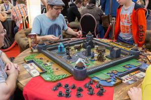 Antoine Bauza - Last Bastion aufgebaut auf der Spiel Essen Messe