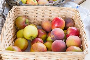 Äpfel und Pfirsiche