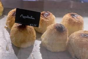 Appelbollen, a Dutch dessert made from a stuffed and battered apple