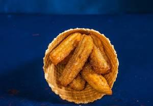 Appetizing fried golden Belgian waffle (Flip 2019)