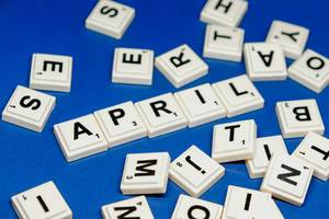 April text close up shot