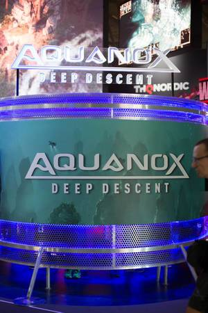 Aquanox Deep Descent an dem Messestand von THQ Nordic