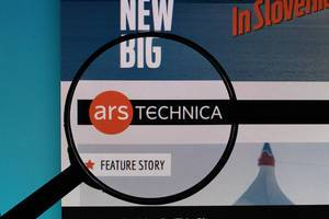 Ars Technica logo under magnifying glass