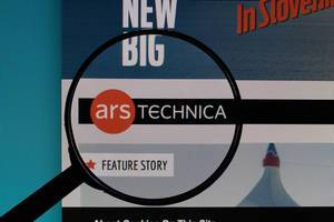Ars Technica website under magnifying glass