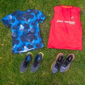 Asics Frontrunner Trikot und Laufschuhe
