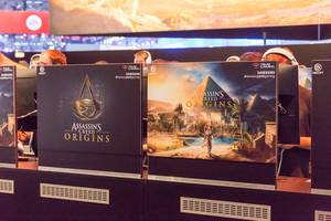 Assassin's Creed Origins Gaming-Bühne – Gamescom 2017, Köln