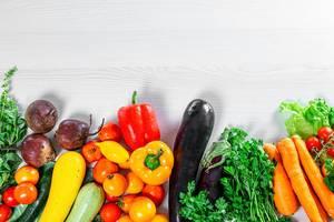 Assortment of ripe fresh summer vegetables for healthy nutrition (Flip 2019)