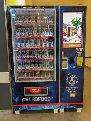 Astro food Automat mit Space-Food in Moskau