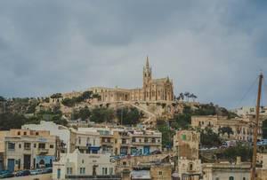 Aufnahme der Stadt Gozo vom Hafen aus