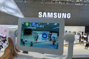 Augmented Reality mit Blick / Observation auf Samsung Town mit BESPOKE-Bühne