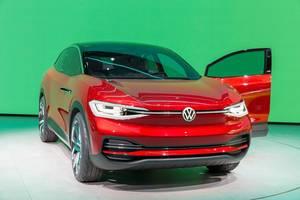 Ausstellung und Präsentation des VW ID.3 Elektroautos von Volkswagen
