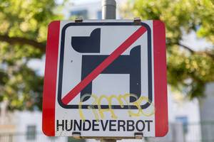 Austrian sign for dog ban