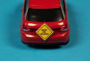 Baby on board warning sign