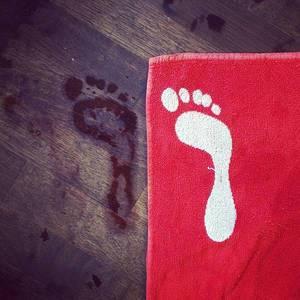 Back from swimming. :) #mach3 #triathlon #swimming #footprint
