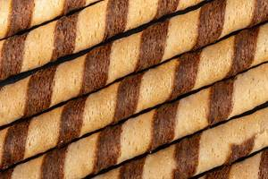 Background of Chocolate Sticks closeup
