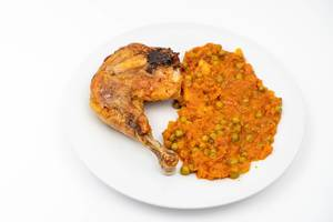 Baked Chicken Drum with Tomato Stew served on the plate