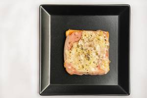 Baked Toast Sandwich with ham and cheese