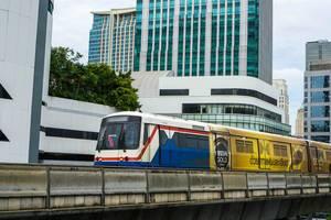 Bangkok Sky Train in Sukhumvit