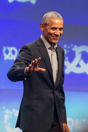 Barack Obama bei der Gründer-Konferenz Bits & Pretzels in München