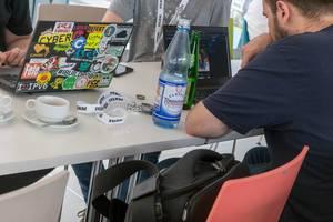Barcamp 2018 Besucher mit ihren Laptops