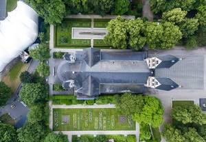 Basilika Sankt Kastor aus der Vogelperspektive
