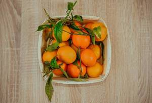 Basket of Fresh Tangerines