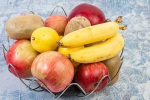Basket with Bananas Apples Kiwi and Lemon (Flip 2019)